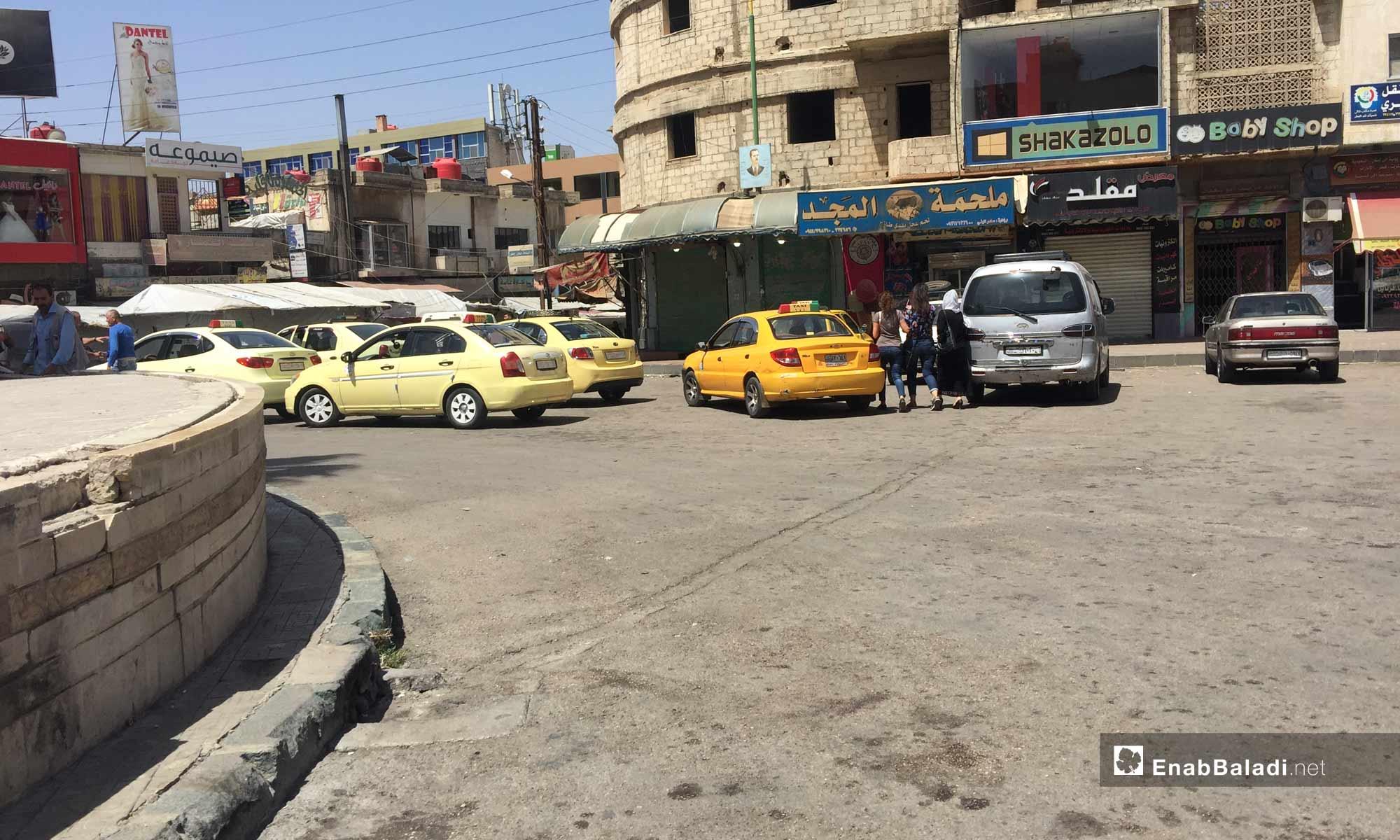 The traffic square in the city of As-Suwayda – July 26, 2018 (Enab Baladi)