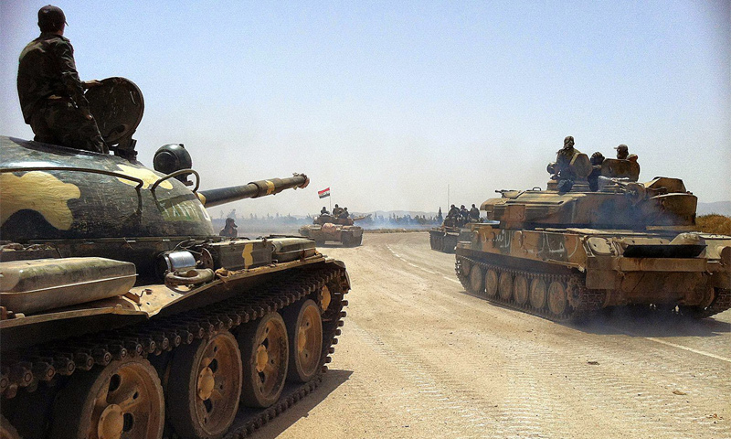 Assad's forces' tanks in the surrounding of Daraa -January 2017 (Internet)