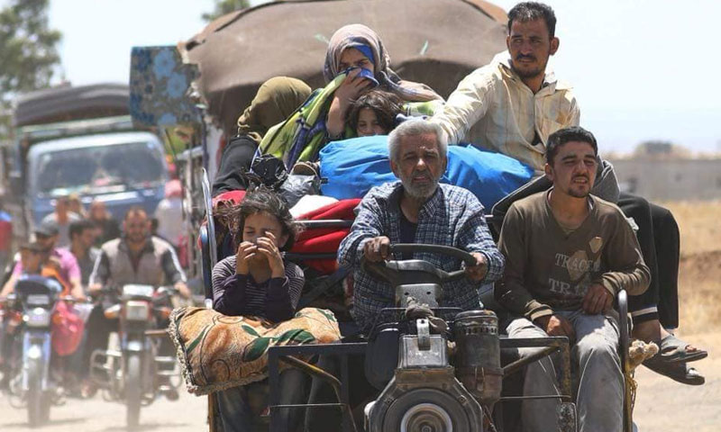 Displaced people from Daraa in the countryside of Quneitra. Saturday 30 June 2018 (Photographer Ala al-Faqir)