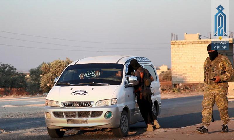 """Hay'at Tahrir al-Sham"" checkpoint in the city of Sarmin, eastern rural Idlib – July 16 (Ebaa)"