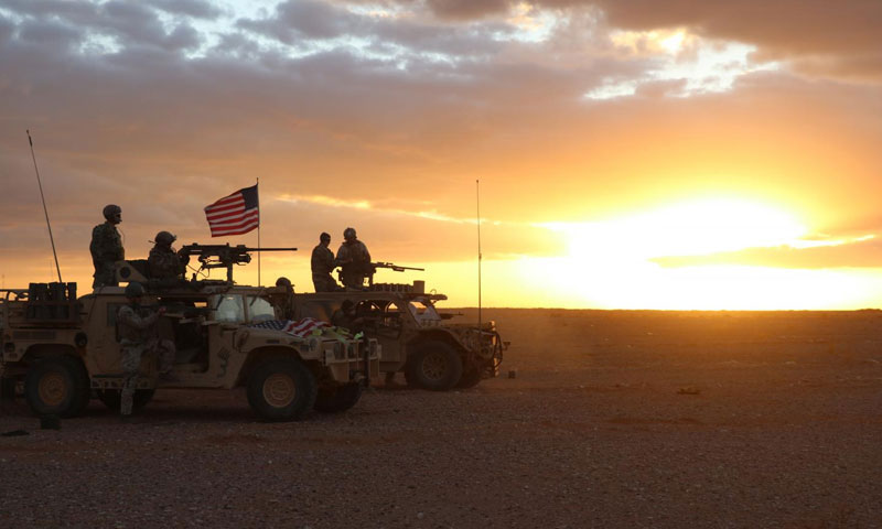 US fighters carrying out drills to fight ISIS at al-Tanf base on the Iraqi border - 22 November, 2017 (US Department of Defense)