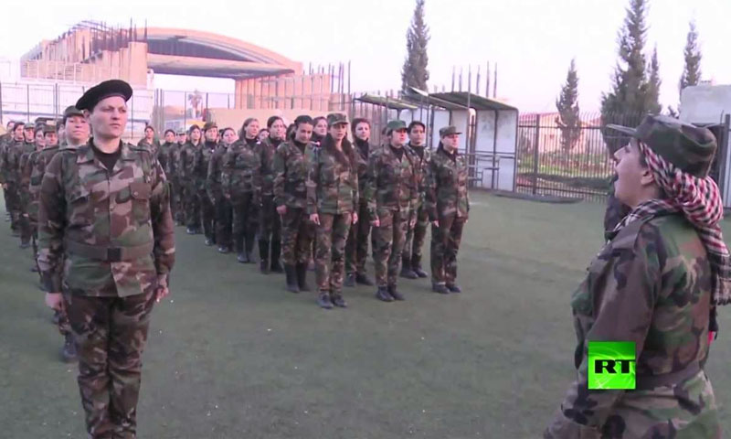 Women volunteers in the Syrian Army – 2017 (Russia Today)