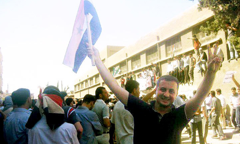 The Syrian political activist Yahia Sharbaji (Facebook)