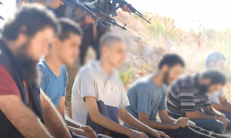 Performing a death sentence of troops, accused of affiliation with ISIS – August 17, 2018 (Ebaa Agency)
