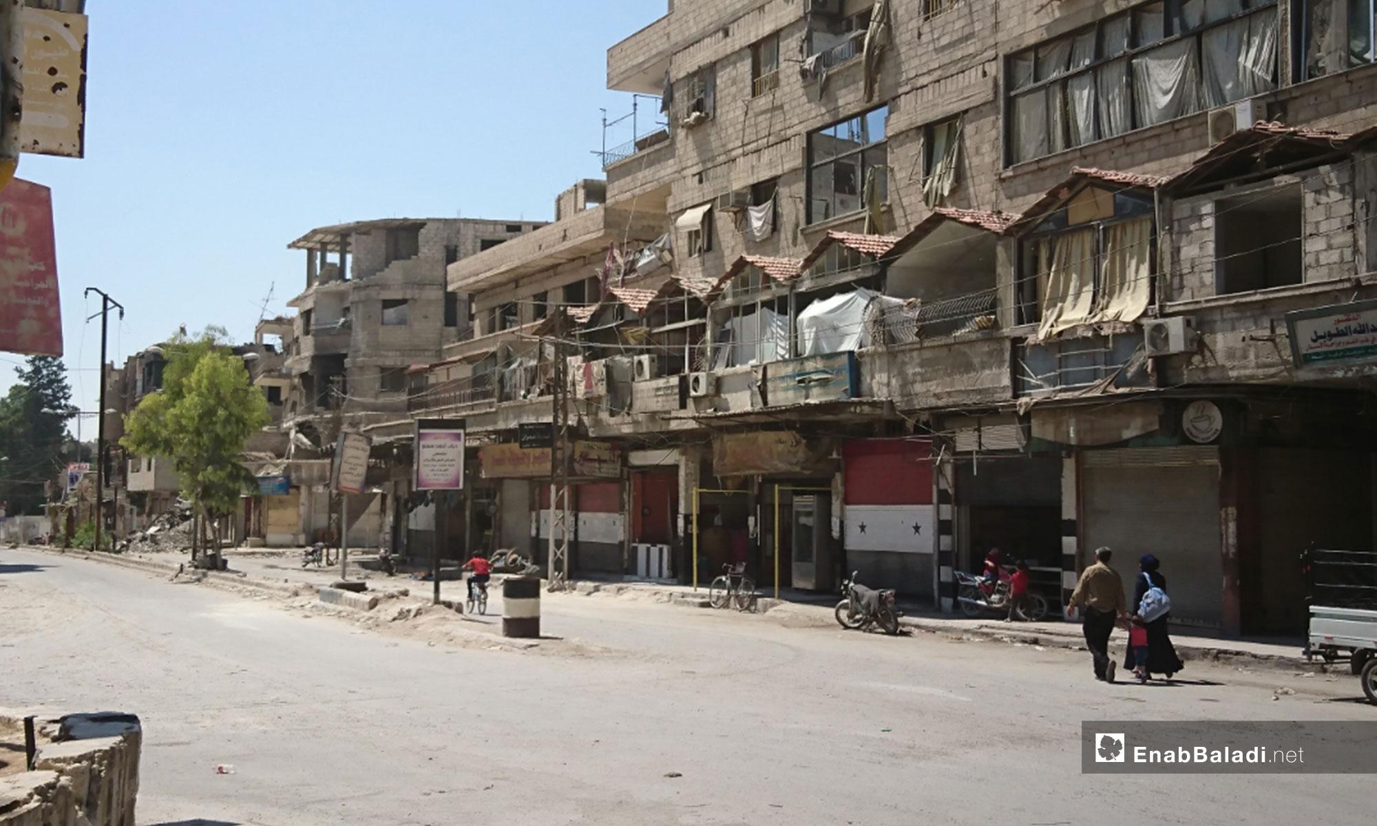 Kafr Batna town's market, Eastern Ghouta – August 18, 2018 (Enab Baladi)
