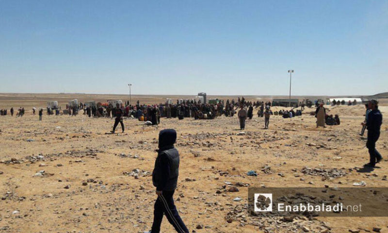 Syrians on the Syrian-Jordanian borders – July 8 (Enab Baladi)