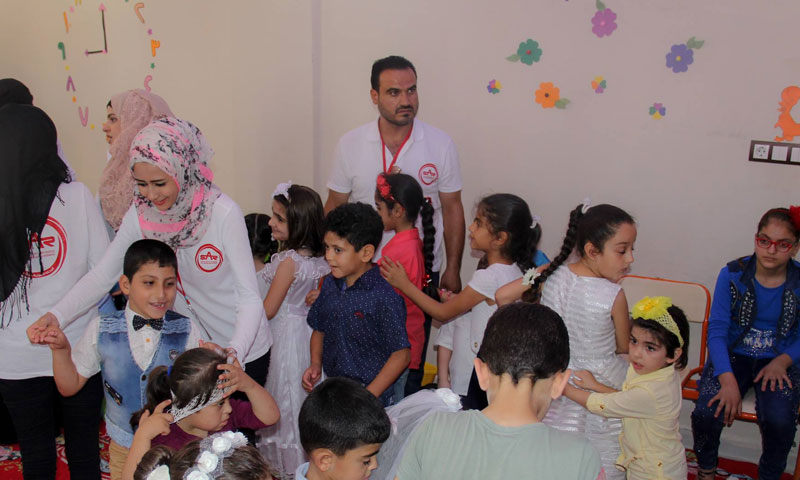 """Psychological support at """"SWAKON"""" Skills Development Center for people with disabilities – August 24, 2018 (Syrian Agency for Rescue)"""