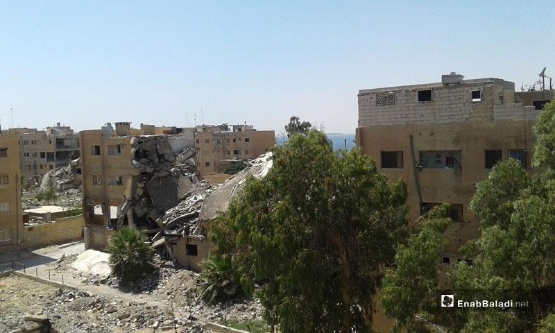 Destruction in the city of al-Tabqa – July 5, 2018 (Enab Baladi)
