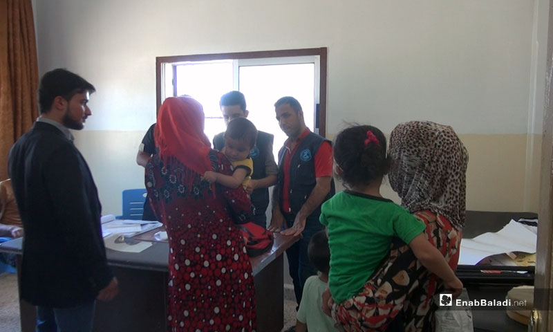 A Fixed Vaccine Center in the area of al-Hawash, al-Ghab plain – August 2018 (Enab Baladi)