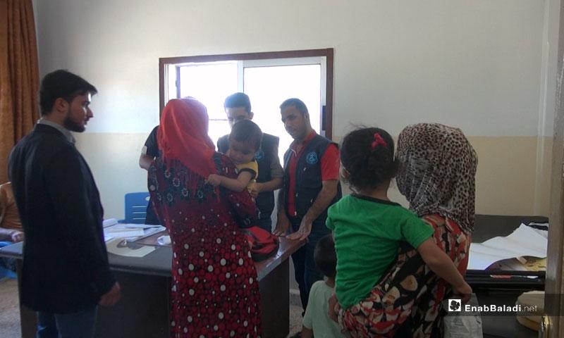 A Fixed Vaccine Center in the area of al-Hawash, al-Ghab plain – August 2018 (Enab Baladi)