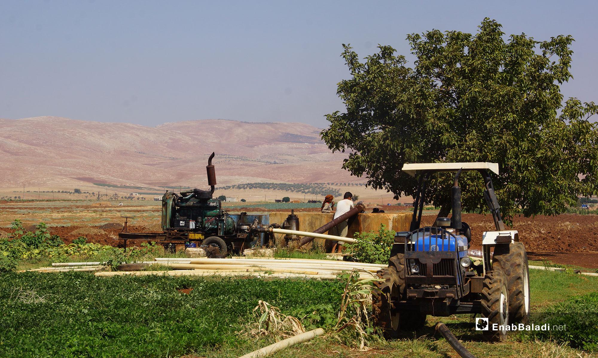 A water pump in a farm in rural Hama – August 29, 2018 (Enab Baladi)