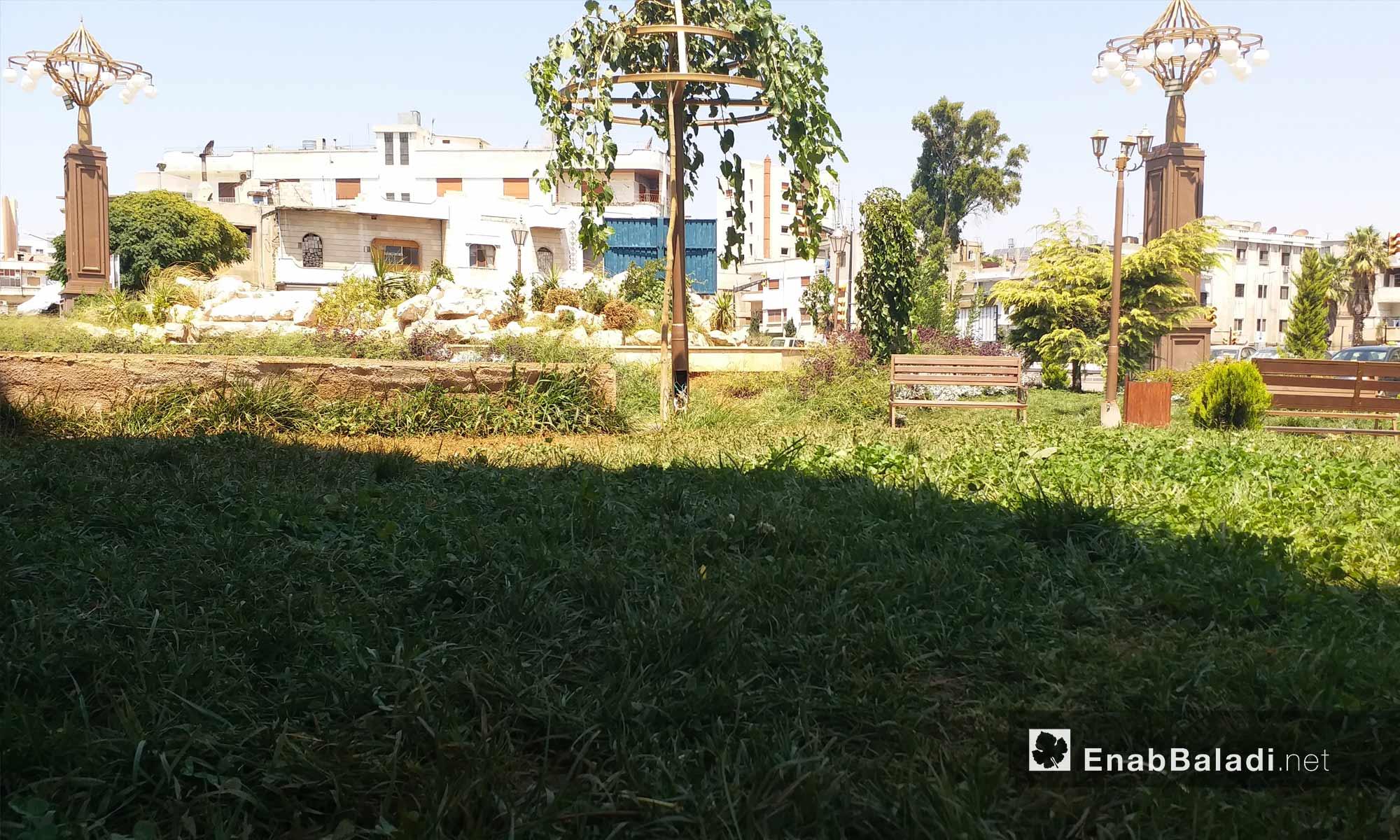 Al-Yasamin park in Dablan neighborhood, Homs city – August 19, 2018 (Enab Baladi)