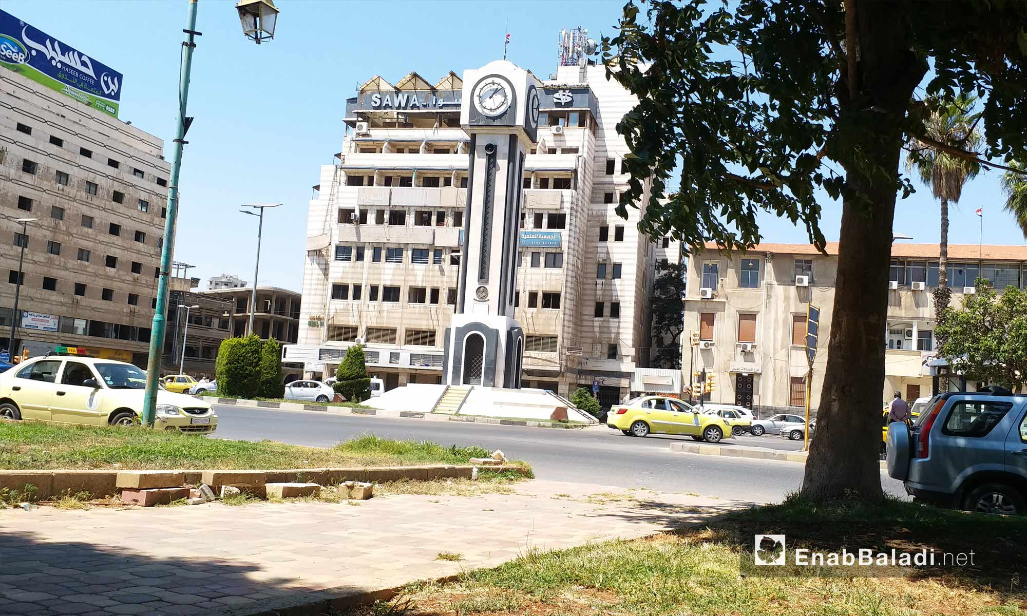 The new clock in the middle of Homs city – August 19, 2018 (Enab Baladi)