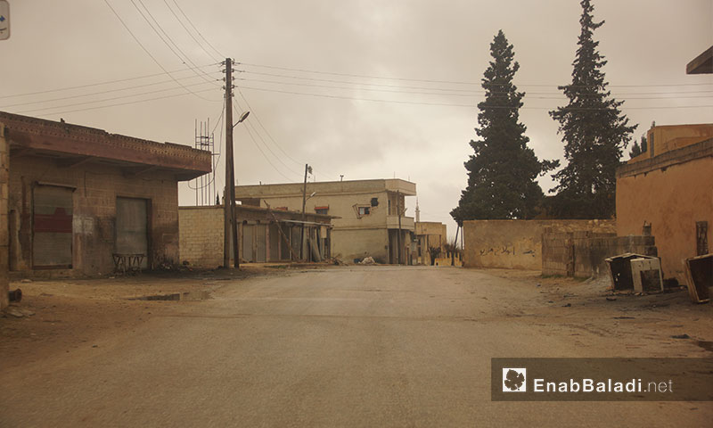 Al-Tah village after the displacement of the majority of its population – January 9, 2018 (Enab Baladi)