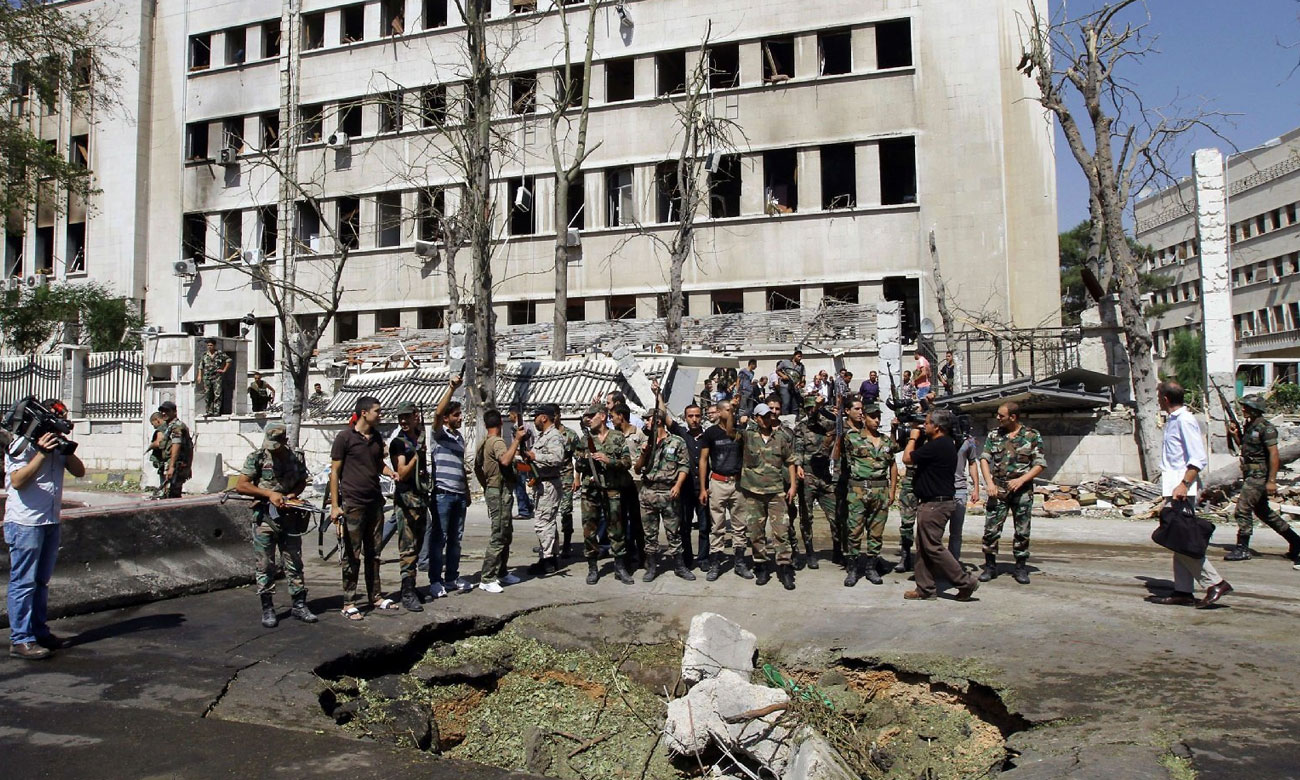 The bombing of the headquarters of the Chiefs of Staff of the Syrian regime in Damascus – 27 September 2012 (AFP)