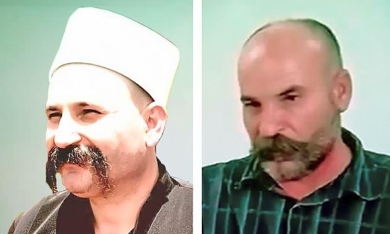 Detainee Wafed Abu Trabah and Sheikh Whid al-Balous (Modified by Enab Baladi)