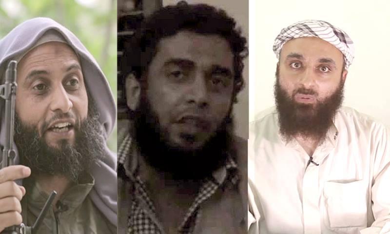 Abu al-Fath al-Ferghali, Abu Maria al-Qahtani, and Abu Yaqthan al-Masri – (Modified by Enab Baladi)