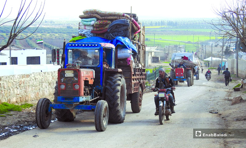 The displacement of the people of Afrin area and countryside towards the northern countryside of Aleppo, Azaz and border camps - March 13, 2018 (Enab Baladi)