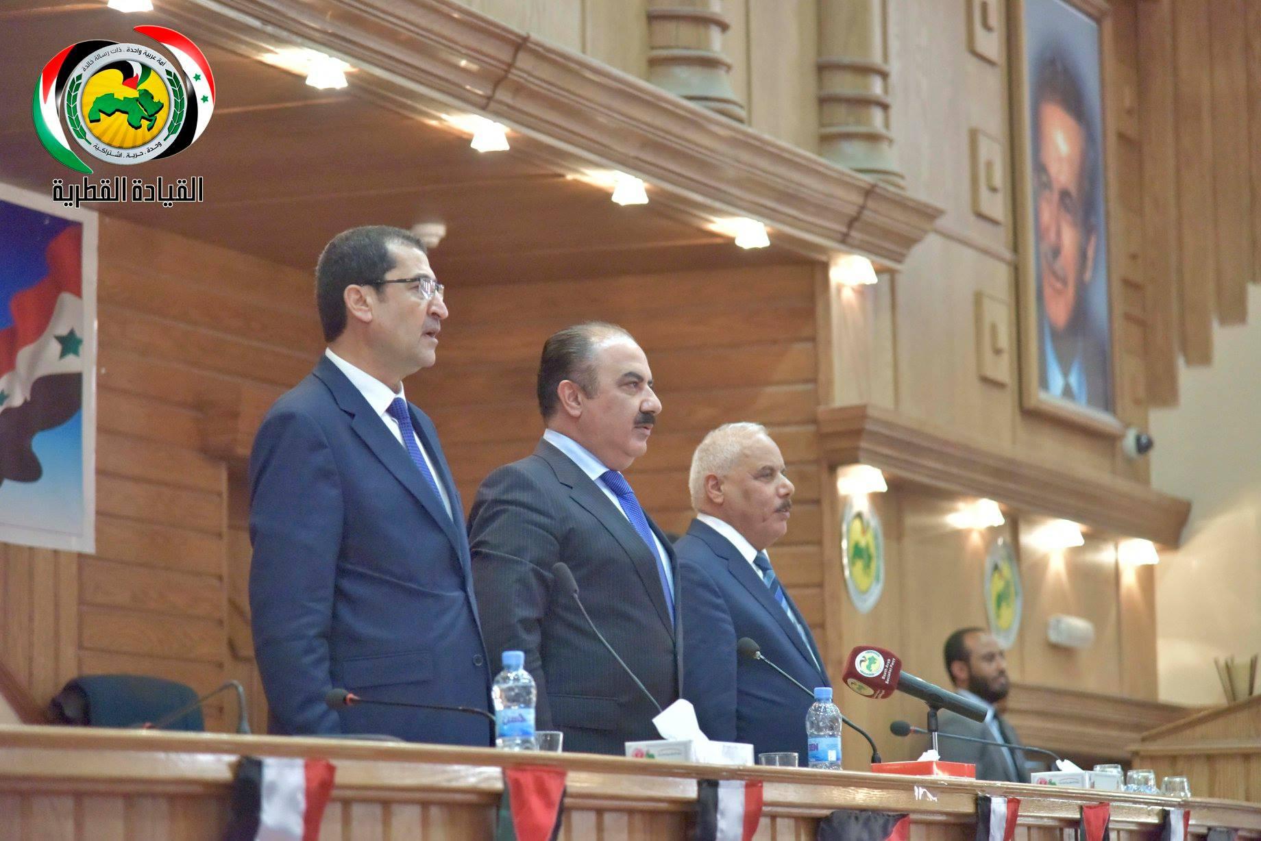 Eng. Hilal al-Hilal, Assistant Regional Secretary of al-Baath Arab Socialist Party (the party's Facebook page)