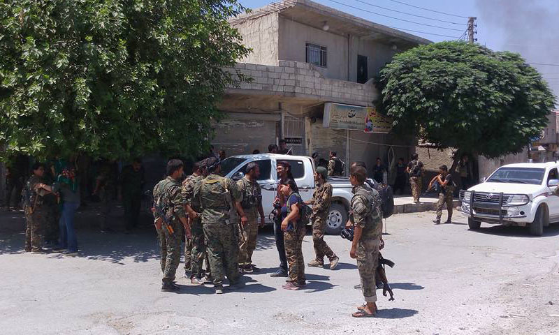 """SDF"" troops in the city of Manbij – August 10 (Facebook)"