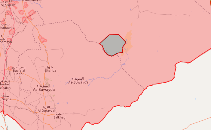 """The area of Tulul al-Safa in which the """"Islamic State"""" is fortified in the Sweida desert – September 18, 2018 (LM)"""