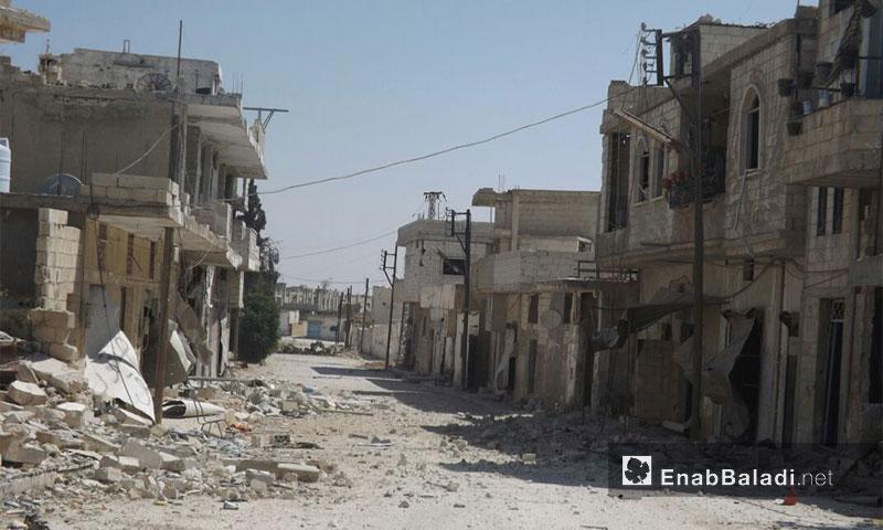 The neighborhoods of Murak city, northern rural Hama (Enab Baladi)