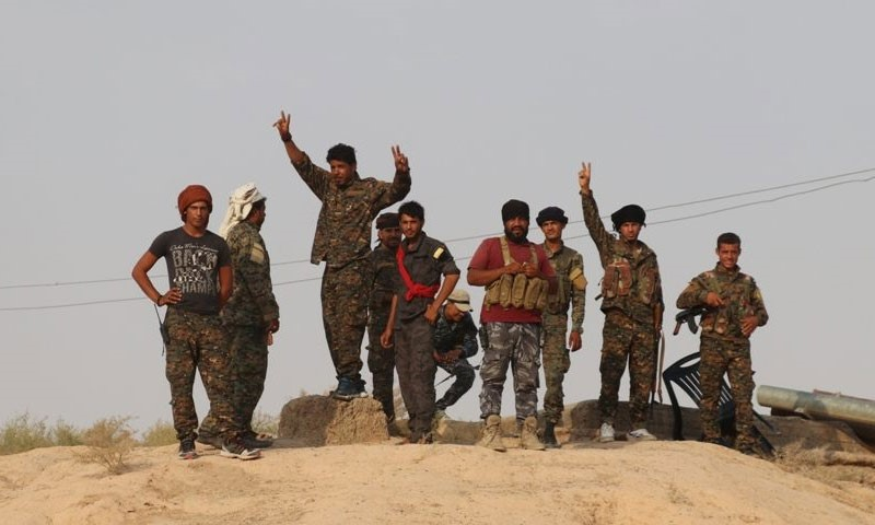SDF troops in the area east of the Euphrates, Syria (SDF official website)