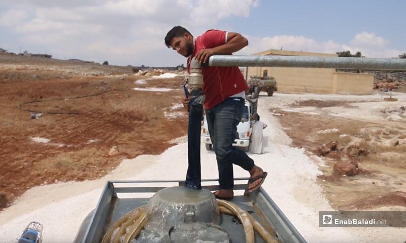 Providing the town of Kaf Oweid, Idlib, with water – September 2018 (Enab Baladi)