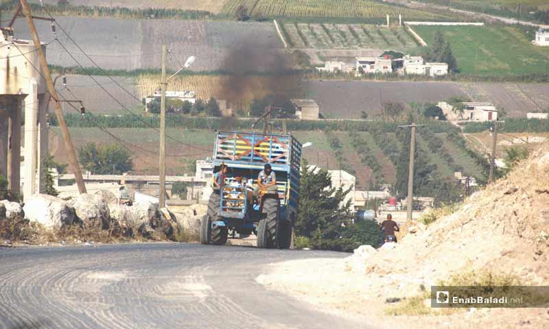Farmers in the western countryside of Hama – September 9, 2018 (Enab Baladi)