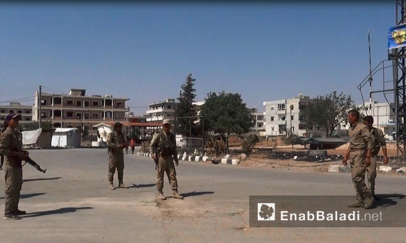 "Troops under the ""Syrian Democratic Forces"" inside the city of Manbij – August 15, 2016 (Enab Baladi)"