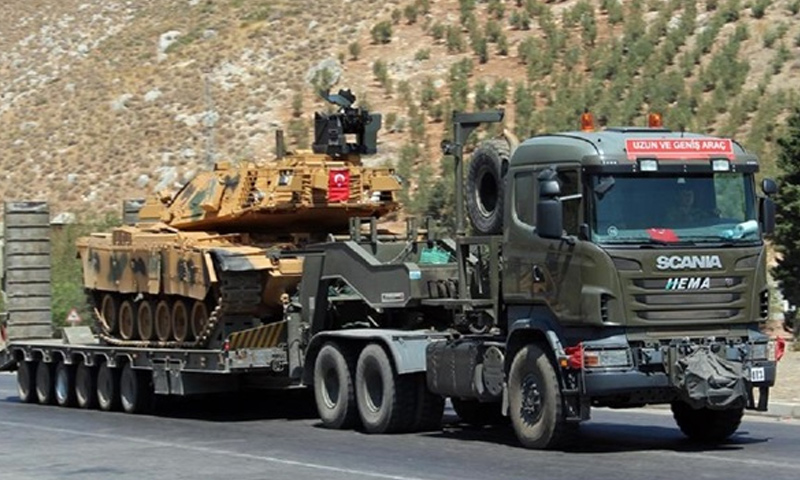 Military reinforcements reach the Turkish province of Kilis at the Syrian borders – September 6, 2018 (Anadolu Agency)