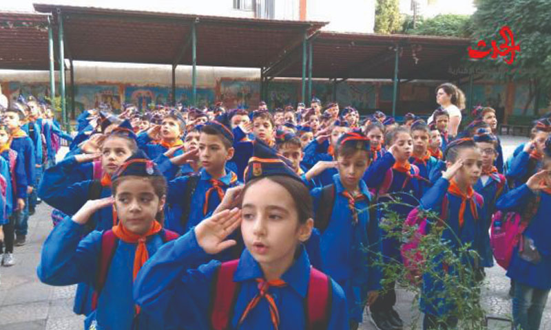 Ikrima al-Makhzomi School, one of the Syrian model schools in Homs (Al-Hadath)