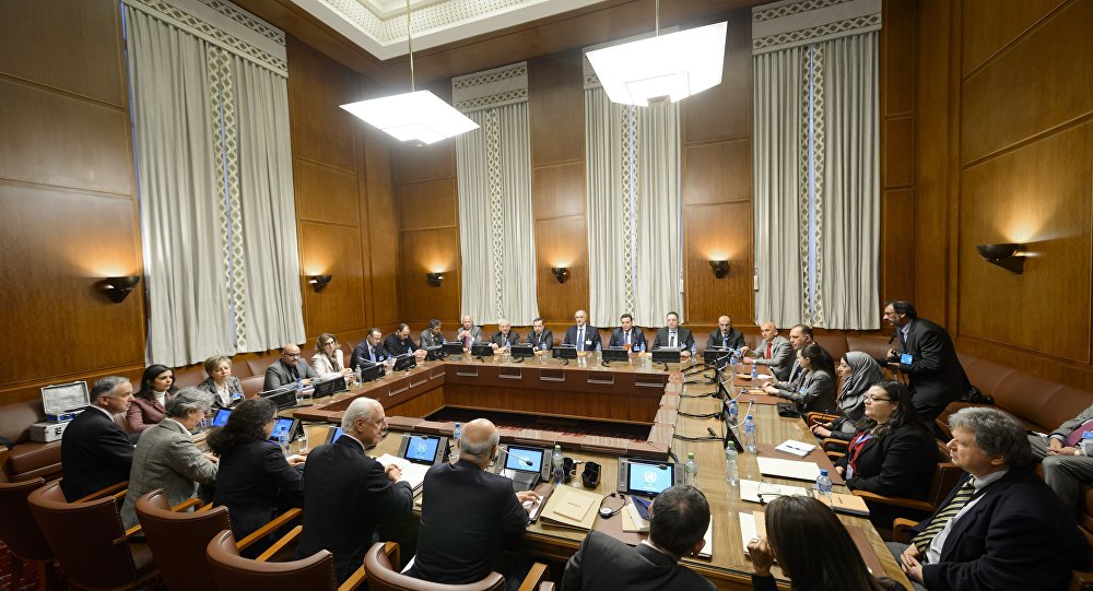 Geneva meeting to determine mechanisms for peaceful resolution of the Syrian crisis (AFP)