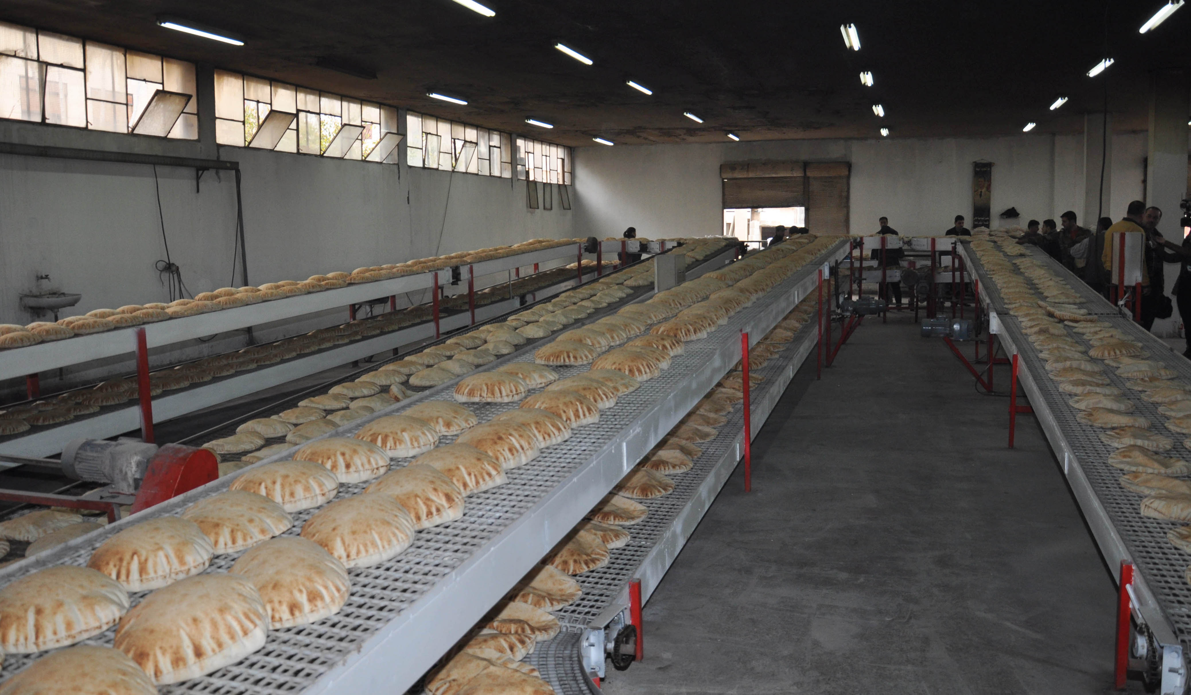 A new bread production line at al-Walid Suburb in Homs - 2014 (SANA)