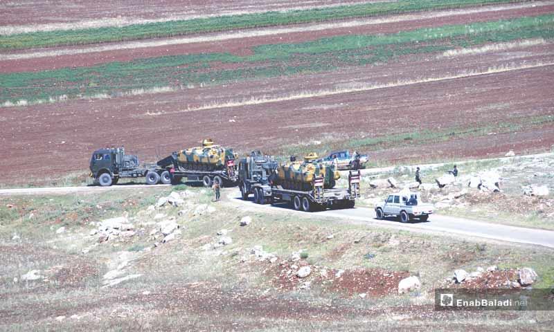 Turkish armored vehicles heading towards Idlib to establish observation point – May 16, 2018 (Enab Baladi)