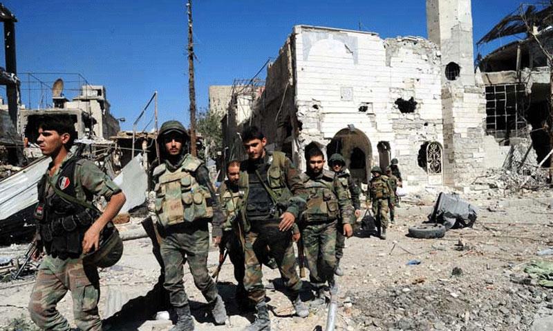 """National Defense"" troops in Sweida (Facebook)"