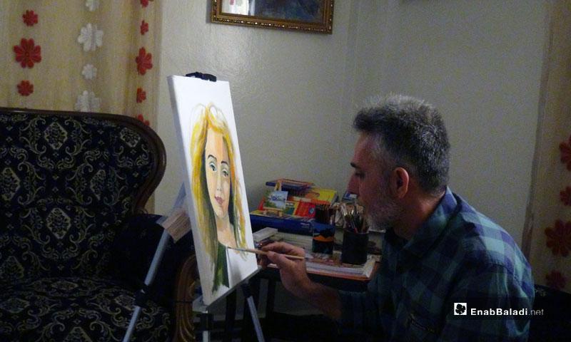 Syrian artist Adnan Kadrash – September 2018 (Enab Baladi)