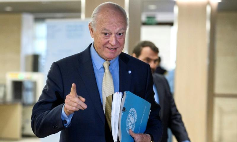 Staffan de Mistura, the resigned UN Special Envoy for Syria