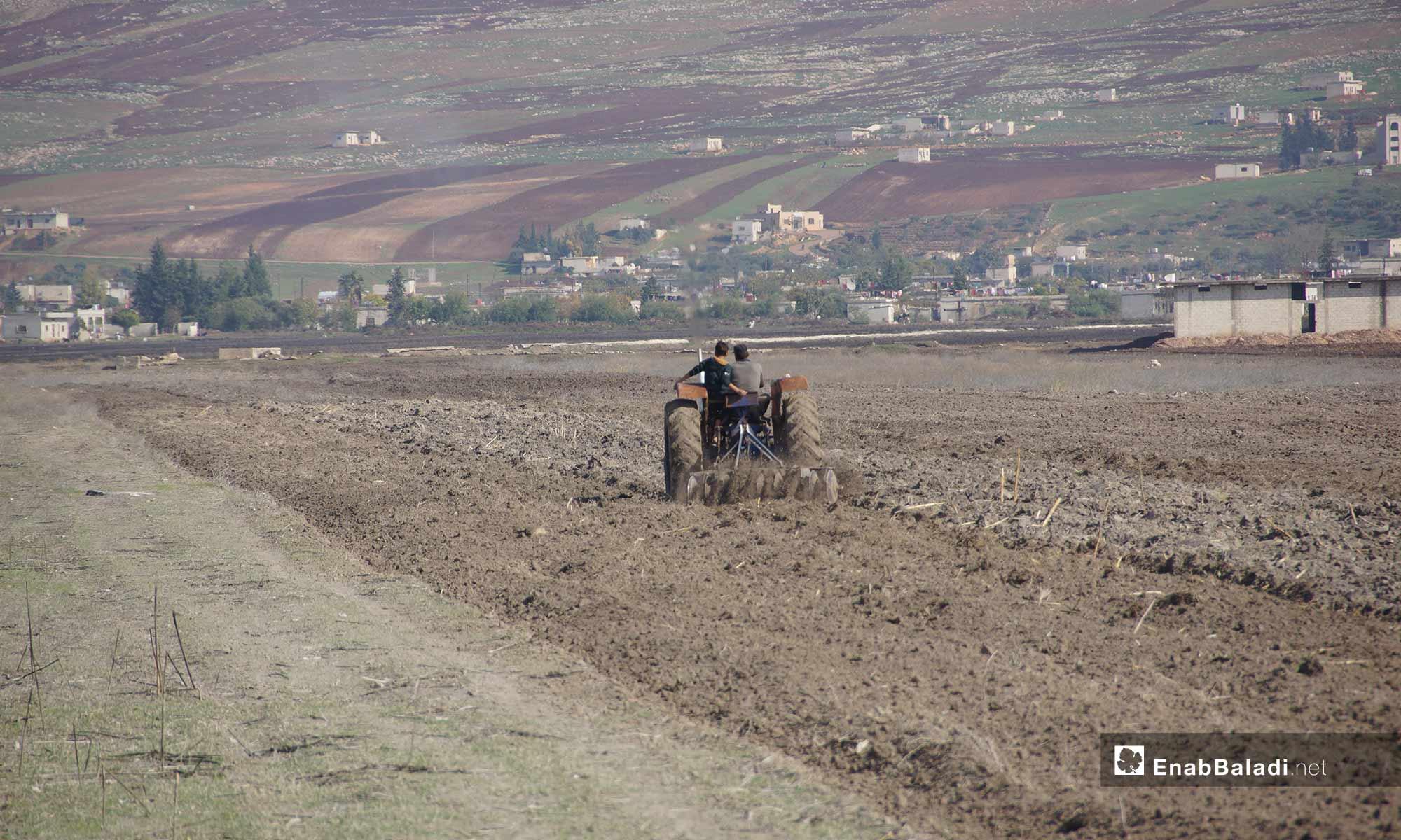 The start of the planting season in al-Ghab Plain, rural Hama – November 26, 2018 (Enab Baladi)