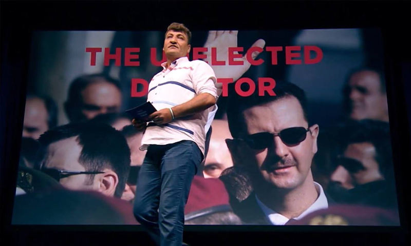 Raed Fares giving a speech - May 23, 2017 (The Oslo Freedom Forum)