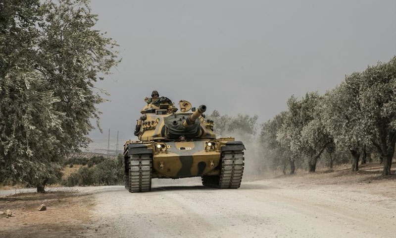 Turkish tanks deployed to the borders with Syria – September 13, 2018 (Anadolu Agency)