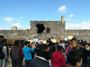 Demonstration demands release of detainees and accuses Assad's Forces conscripts of treason, Daraa – December 21, 2018 (Horan Free League)