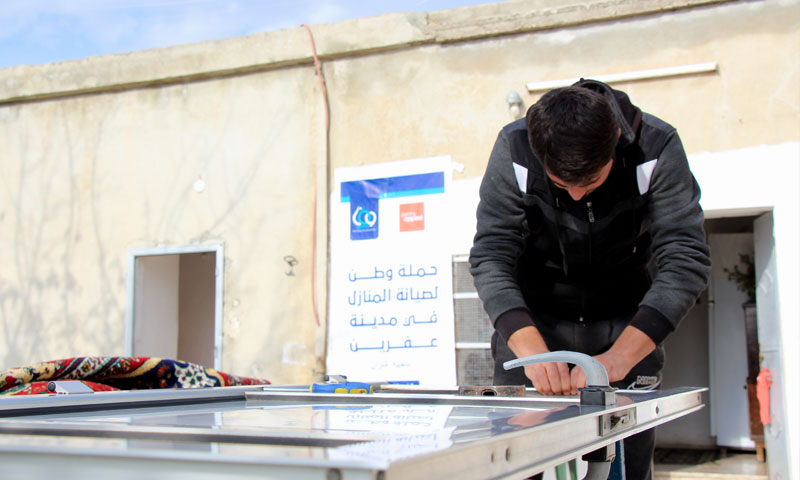 The rehabilitation of houses in Afrin, northern rural Aleppo – December 2018 (WATAN Foundation)