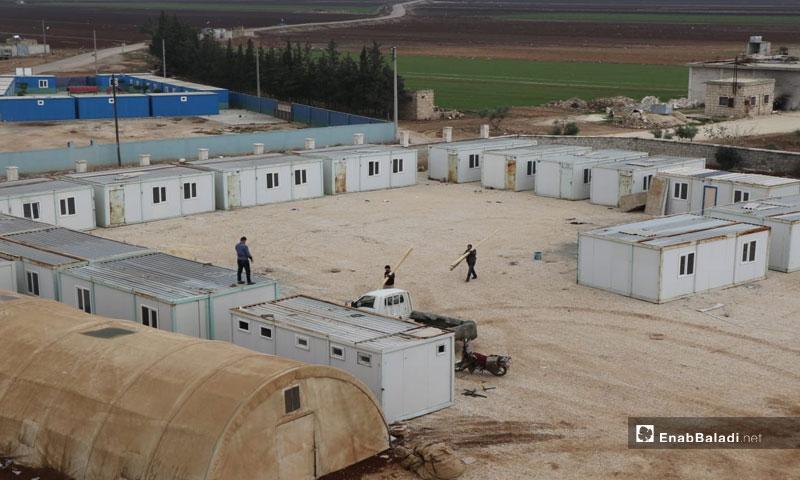 University Housing Caravans, Marae', northern rural Aleppo - December 2018 (Enab Baladi)