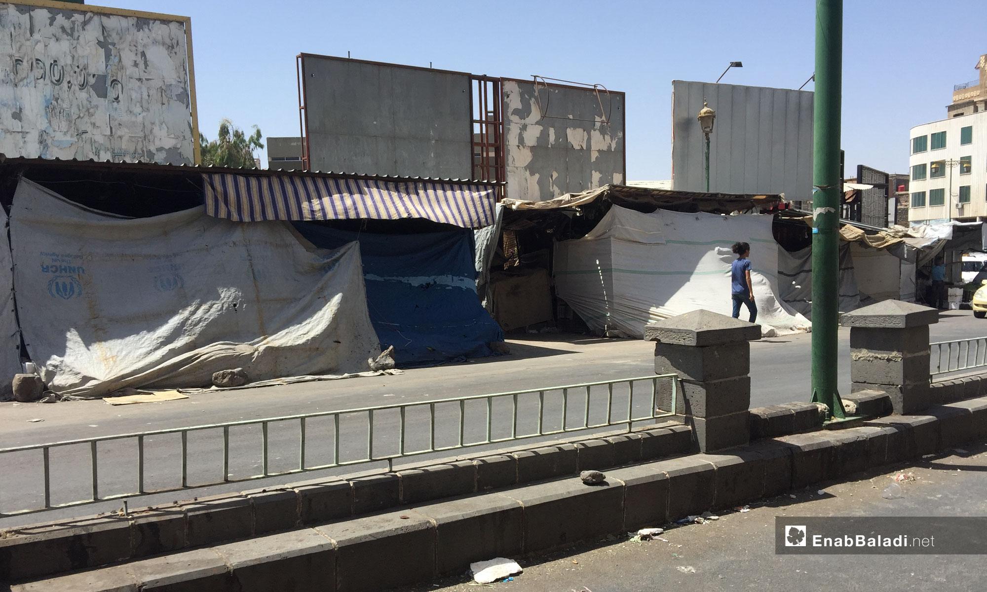The vegetable market in Sweida city – July 26, 2018 (Enab Baladi)