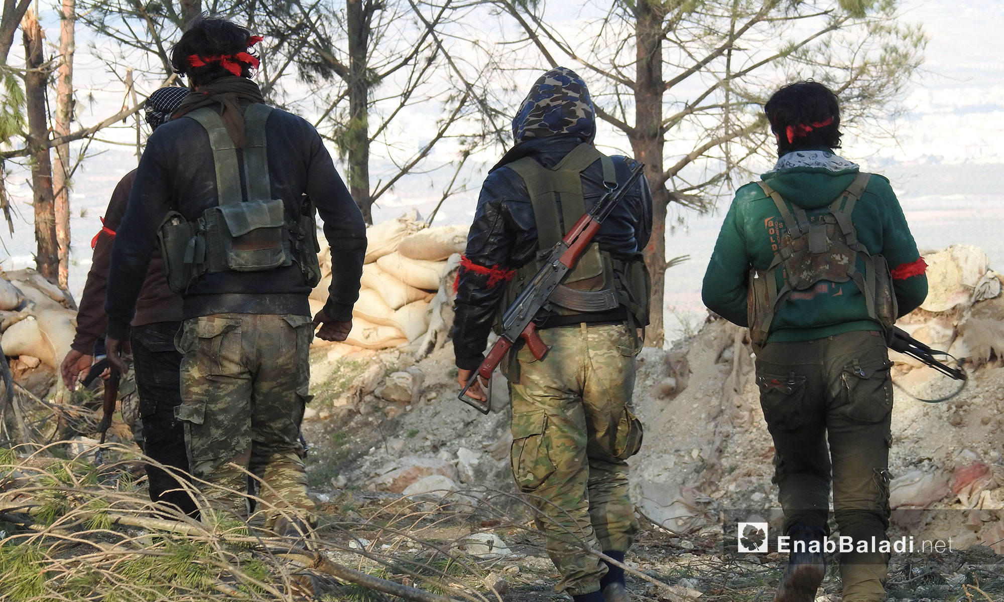 """""""Free Army"""" troops during operation """"Olive Branch"""" in Afrin, northern Aleppo – February 1, 2018 (Enab Baladi)"""