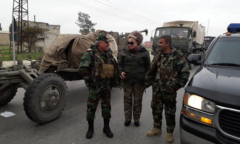 Assad's forces' officials heading towards Idlib governorate's fronts – November 29, 2018 (Fifth Division/ Military Media)