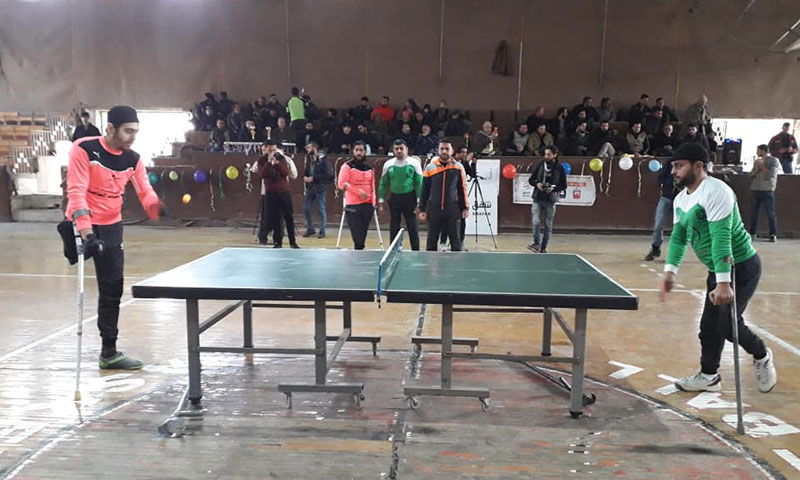"""Of the activities of the """"Ashab al-Himam"""" Festival, Idlib – December 20, 2018 (Omayya Club Facebook Page)"""