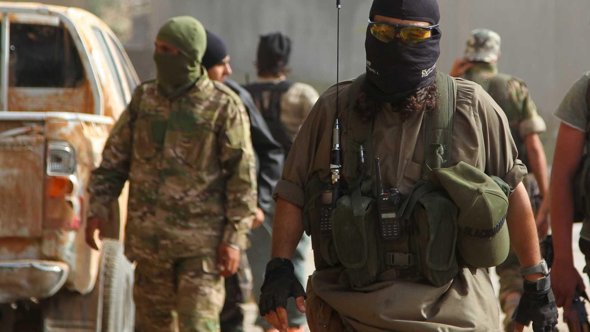 Combatants in jihadi formations during Idlib battles - 2015 (Reuters)