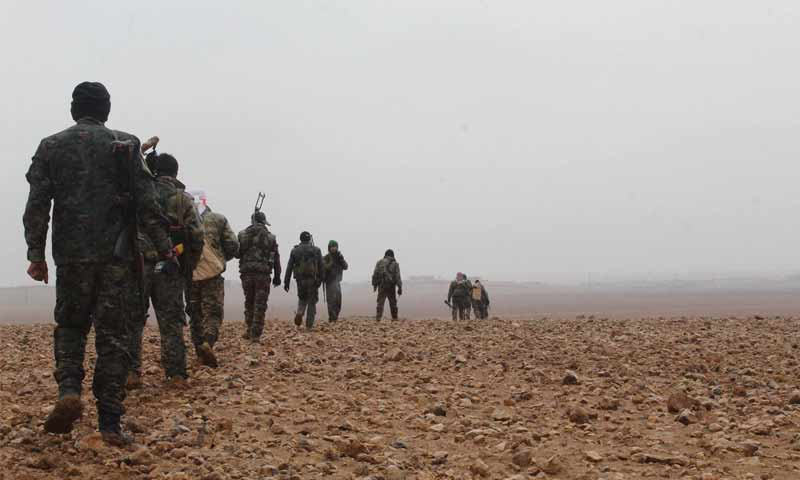 The Syrian Democratic Forces (SDF) east of the Euphrates- (SDF Facebook page)